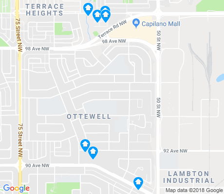 map of Ottewell apartments for rent