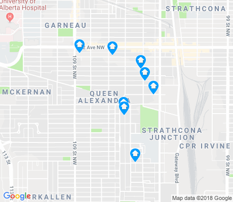 map of Queen Alexandra apartments for rent