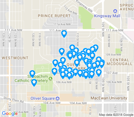 map of Queen Mary Park apartments for rent