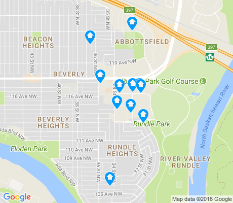 map of River Valley Rundle apartments for rent