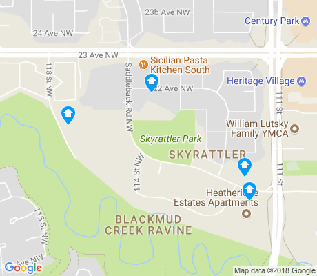 map of Skyrattler apartments for rent