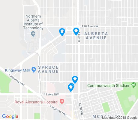 map of Spruce Avenue apartments for rent