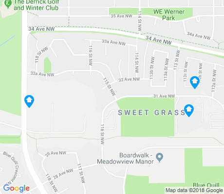 map of Sweet Grass apartments for rent