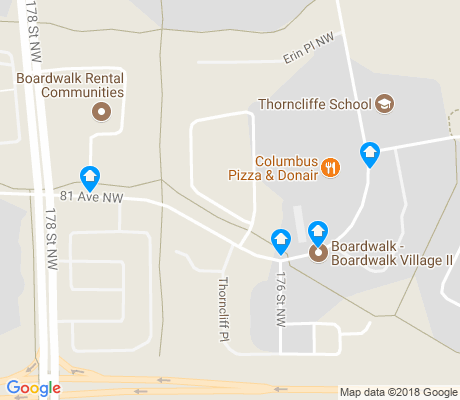 map of Thorncliff apartments for rent