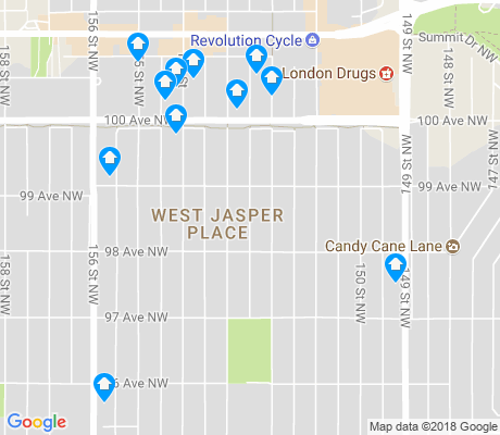 map of West Jasper Place apartments for rent