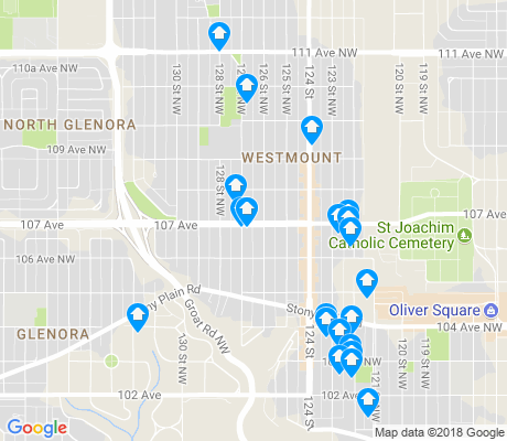 map of Westmount apartments for rent