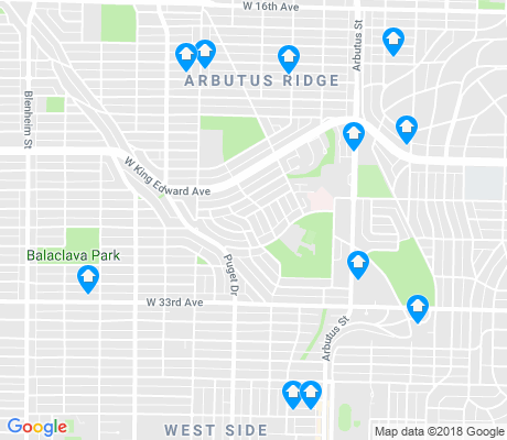 map of Arbutus-Ridge apartments for rent