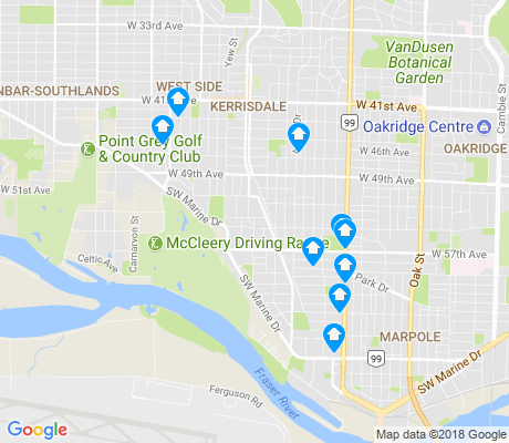 map of Kerrisdale apartments for rent
