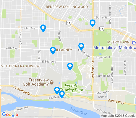 map of Killarney apartments for rent