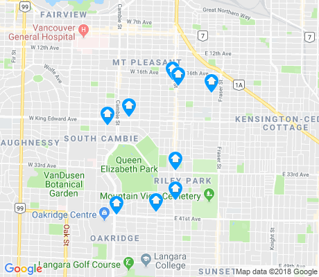 map of Riley Park apartments for rent