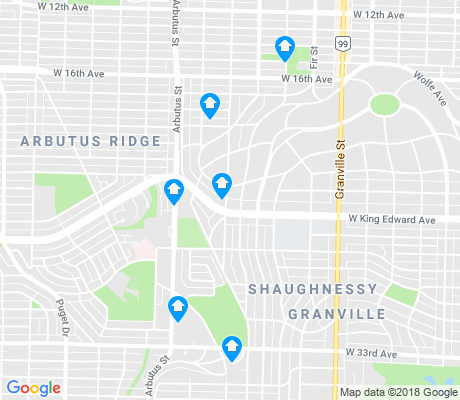 map of Shaughnessy apartments for rent