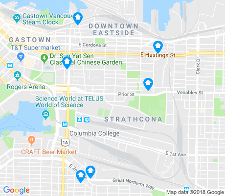 map of Strathcona apartments for rent