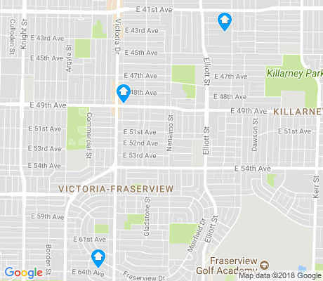 map of Victoria-Fraserview apartments for rent