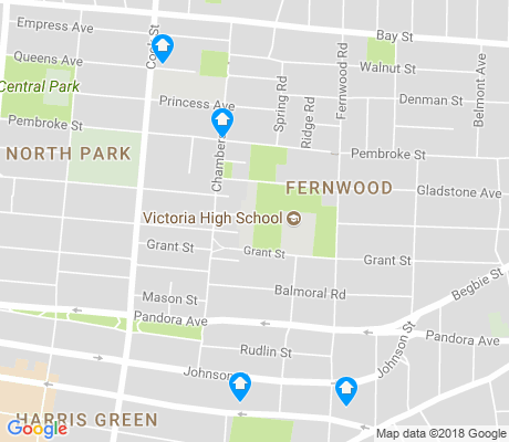 map of Fernwood apartments for rent