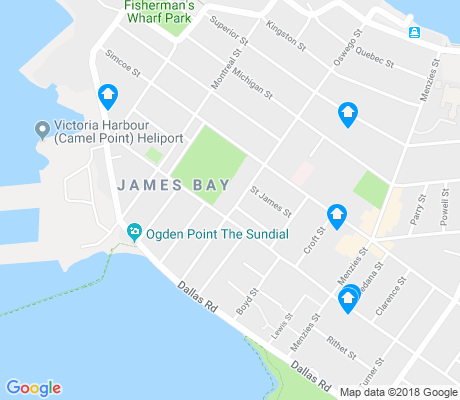 map of James Bay apartments for rent