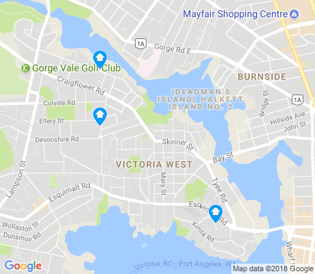 map of Victoria West apartments for rent