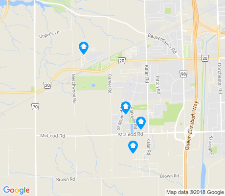 map of Garner apartments for rent