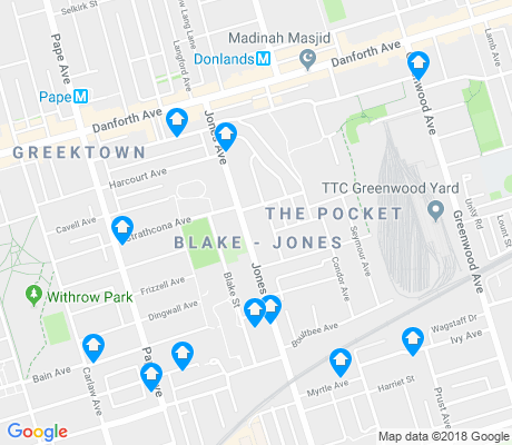 map of Blake-Jones apartments for rent