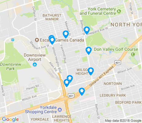 map of Clanton Park apartments for rent