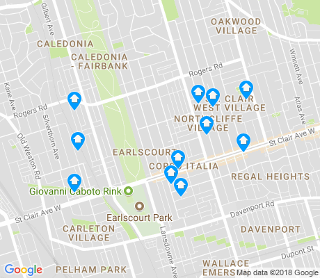 map of Corsa Italia-Davenport apartments for rent