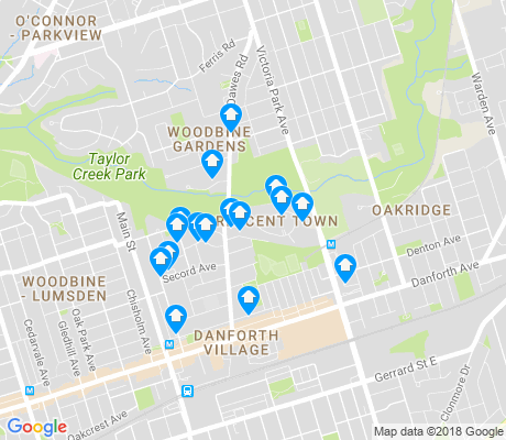 map of Crescent Town apartments for rent