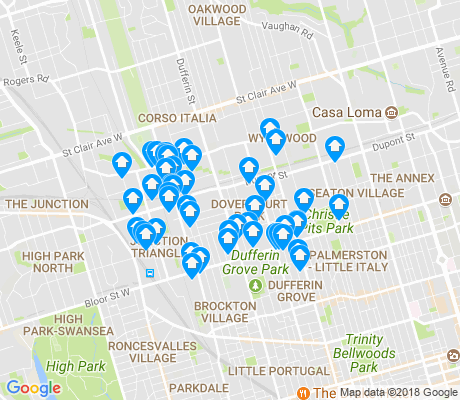 map of Dovercourt-Wallace Emerson-Juncti apartments for rent