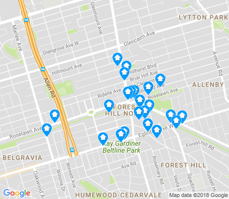 map of Forest Hill North apartments for rent