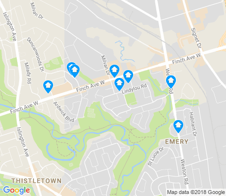 map of Humbermede apartments for rent
