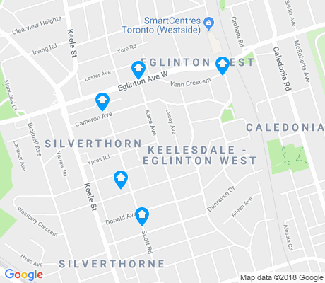 map of Keelesdale-Eglinton West apartments for rent
