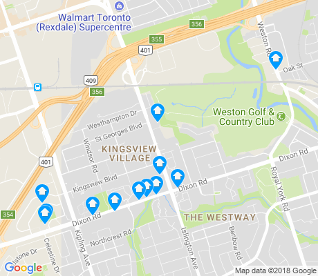 map of Kingsview Village-The Westway apartments for rent