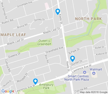 map of Maple Leaf apartments for rent