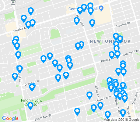 map of Newtonbrook West apartments for rent