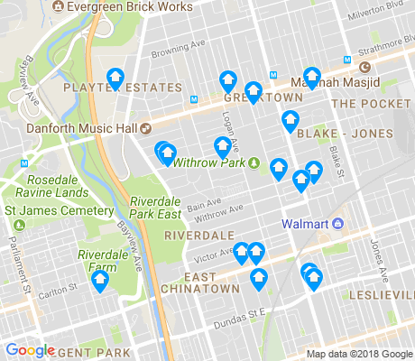 map of North Riverdale apartments for rent