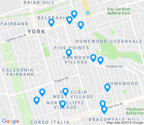 map of Oakwood-Vaughan apartments for rent