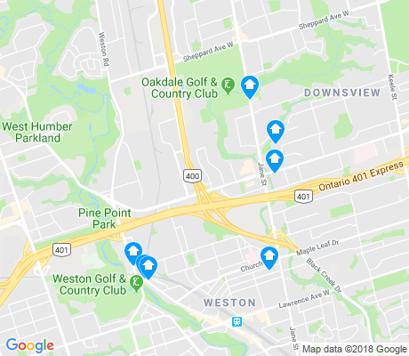 map of Pelmo Park-Humberlea apartments for rent