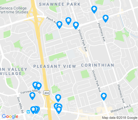 map of Pleasant View apartments for rent