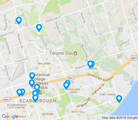 map of Rouge apartments for rent