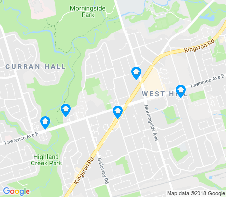 map of West Hill apartments for rent
