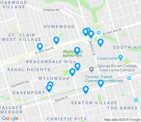 map of Wychwood apartments for rent