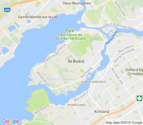 map of L'Ile-Bizard--Sainte-Genevieve apartments for rent
