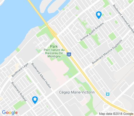 map of Pointe-aux-Trembles-Rivieres-des-Prairies apartments for rent