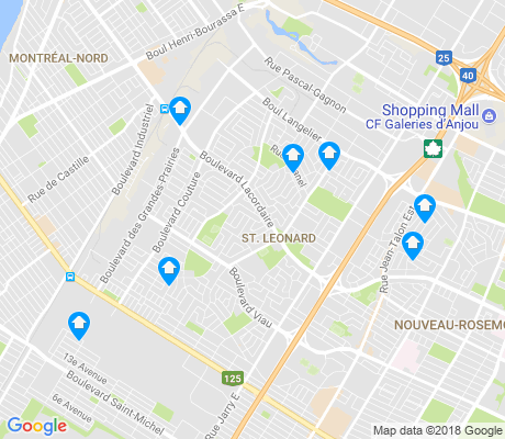 map of St-Leonard apartments for rent
