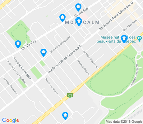 map of Montcalm apartments for rent