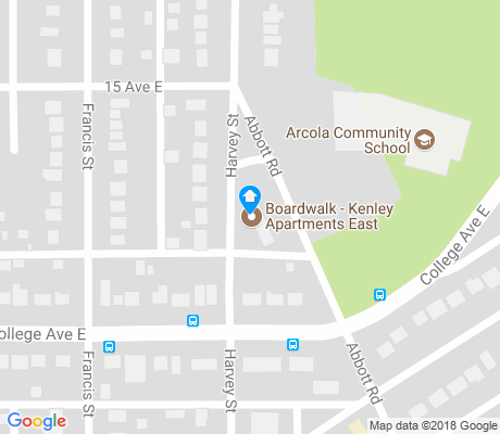 map of Assiniboia East apartments for rent