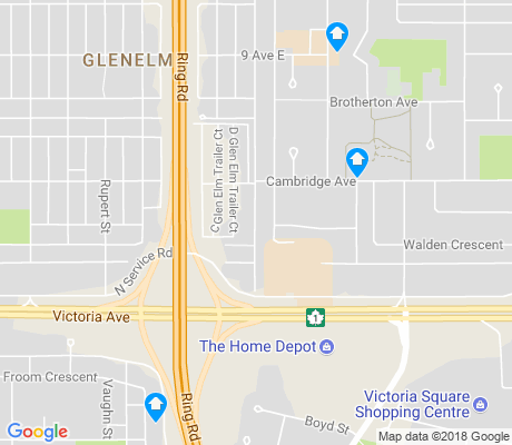 map of Glen Elm Park apartments for rent