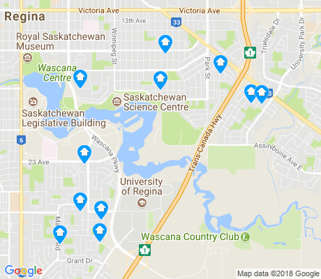 map of Wascana Park apartments for rent