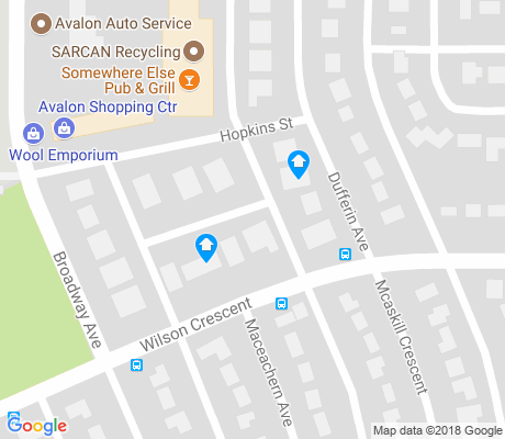 map of Avalon apartments for rent