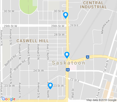 map of Caswell Hill apartments for rent