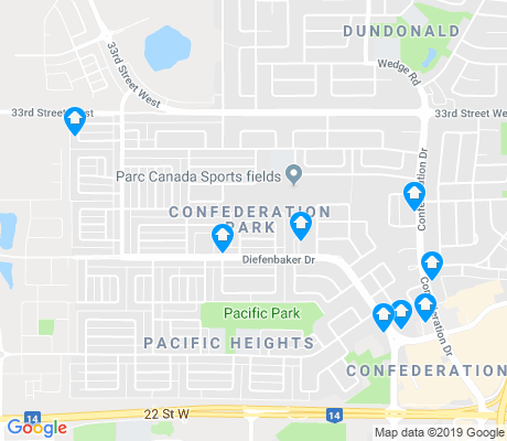 map of Confederation Park apartments for rent