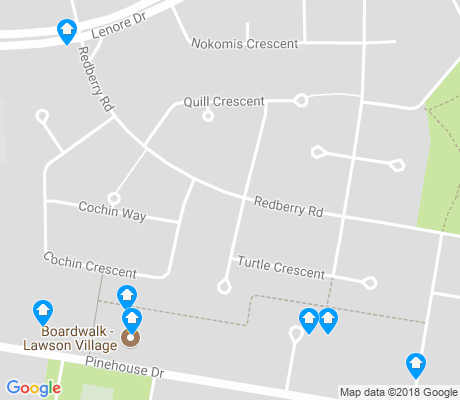 map of Lawson Heights apartments for rent